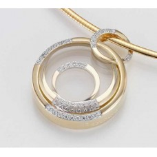 Anhaenger - GOLD 585 - GELB - E.BKRISTALL/Brill. 0,267 Ct - 8,24 g