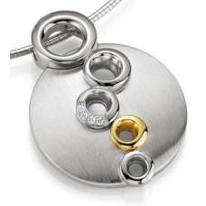 Anhaenger-Silber 925 - Gold - 585 - BRILL.0,028 Ct - 9.00 g
