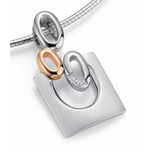 Anhaenger-Silber 925 - Gold - 585 - BRILL. 0,017 Ct - 3.2 g