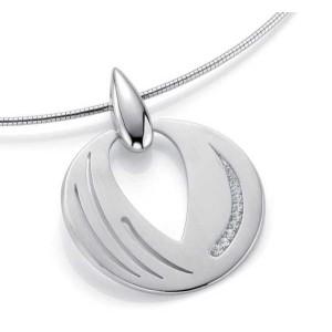 Anhaenger - Silber 925 - E.SAFIR WEISS - 10,25 g