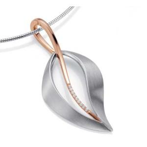 Anhaenger - Silber 925 - E.SAFIR WEISS - 9,00 g