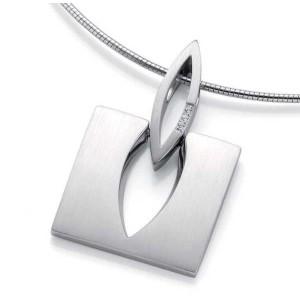 Anhaenger - Silber 925 - E.SAFIR WEISS - 8,00 g