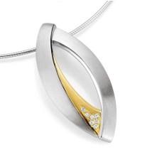 Anhaenger - Silber 925 - E.Safir weiss - 10,71 g