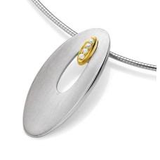 Anhaenger - Silber 925 - E.Safir weiss - 6,04 g