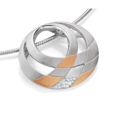 Anhaenger - Silber 925 - E.Safir weiss - 5,74 g
