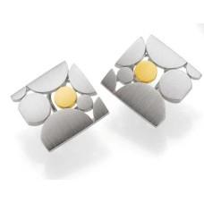 Ohrschmuck - Silber 925 - GOLD 585 - 9.01 g