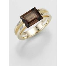 Ring- Gold-585/- Gelb -  E.RAUCHQUARZ/Brill. 0,039 Ct. w/si - 5,47g