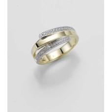 Ring- Gold-585/- Gelb/Weiß - BRILL. 0,22 Ct. w/si - 6,98 g