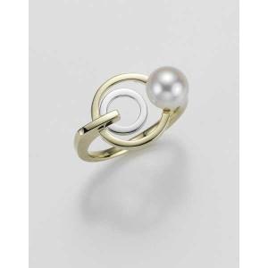 Ring- Gold-585/- Gelb/Weiß - C. Zuchtperle - 4,88 g